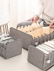 cheap -New Washable Cotton Linen Fabric Folding CD Storage Box Foldable Bins Toys Organizer With Lid Storage Basket Laundry Basket