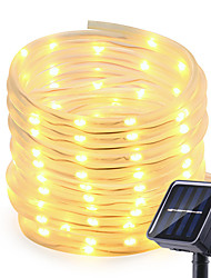 cheap -Solar Strip Lights Outdoor 7M 12M 22m LED Outdoor Solar Lamps 50 100 Leds 200 Leds Rope Tube String Lights Fairy Holiday Christmas Party Solar Garden Waterproof Lights