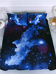 cheap -A Nice Night Galaxy Bedding Sets Outer Space Comforter 3D Printed Space Quilt Cover Set Full Sizefor Children Boy Girl Teen Kids - Includes 1 Duvet Cover 2 Pillow Cases