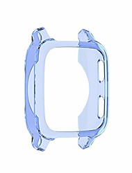 cheap -sports watch case, tpu scratch-resist frame protective cover shell full coverage clear case for garmin venu sq, all-around bumper protective
