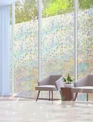 cheap -Vinyl Static Cling Window Geometry Privacy Stained Glass Decorative Window Film Heat Control Window Tint / Window Sticker / Door Sticker 100*45CM