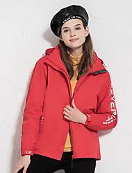 cheap -Women's Hiking 3-in-1 Jackets Ski Jacket Hiking Windbreaker Winter Outdoor Thermal Warm Windproof Quick Dry Lightweight Outerwear Winter Jacket Coat Skiing Ski / Snowboard Fishing Female-China Red
