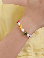 cheap -glass color beaded ring bracelet