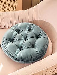 cheap -Seat Cushion European Style Light Luxury Style Velvet Round Chair Cushion Home Office Seat Bar Dining Chair Seat Pads Garden Floor Cushion