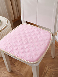 cheap -Seat Cushion Fashion Simple Solid Color Bandage Seat Cushion Hairball Side Chair Cushion Home Office Seat Bar Dining Chair Seat Pads Garden Floor Cushion