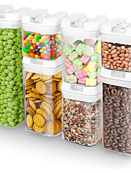 cheap -Coarse Grain Storage Kitchen Food Sealed Cans Plastic Seven-Piece Transparent Storage Container Grain Moisture-Proof Sealed Box