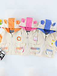 cheap -1pc Baby Unisex Jacket & Coat Casual Daily School Daily Wear Cotton Blue Orange Rose Red Animal Long Sleeve / 6 Month+