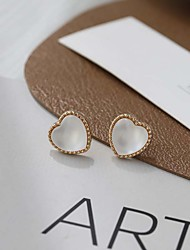 cheap -s925 love earrings 2021 new trendy small and exquisite high-end earrings french net red ear clips without pierced ears