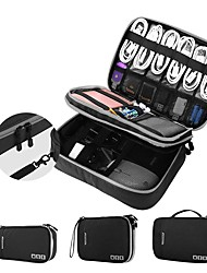 cheap -Double Layer Electronic Accessories Organizer Storage Handbag Travel Cable Organizer Large Capacity For Power Bank USB