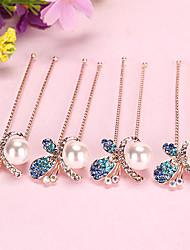 cheap -korean version of pearl rhinestone hairpin bridal disc hair round head small pin u-shaped clip hairpin hairpin hairpin hairpin accessories