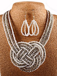cheap -Women's Jewelry Set Braided Stylish Artistic Fashion Shell Earrings Jewelry White / Black For Gift Formal Festival