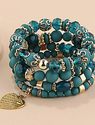 cheap -Bead Bracelet Heart Wedding Statement Asian Elegant Holiday Acrylic Bracelet Jewelry Blue For Halloween Gift Formal Date