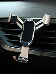 cheap -Phone Holder Stand Mount Car Air Vent Outlet Grille Car Holder Phone Holder Buckle Type Gravity Type Adjustable 360°Rotation Metal ABS Phone Accessory iPhone 12 11 Pro Xs Xs Max Xr X 8 Samsung Glaxy
