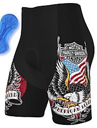 cheap -21Grams Men's Cycling Shorts Summer Spandex Bike Padded Shorts / Chamois Quick Dry Moisture Wicking Sports American / USA Black Mountain Bike MTB Road Bike Cycling Clothing Apparel Bike Wear