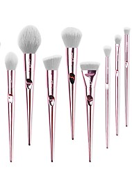 cheap -MSQ 10 Pieces Professional Makeup Brush Set Soft Synthetic Hair Suitable For Foundation Highlighter Liquid Concealer Eye Shadow Lip Gloss