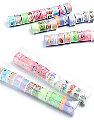 cheap -12 Rolls Washi Tape Set Halloween decoration candy cute Sticky Paper Tape Crafts Tape for DIY Bullet Diary Decorative Gift Wrapping Scrapbook