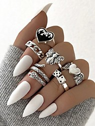 cheap -Ring Vintage Style Silver Alloy Snake Heart Butterfly Stylish Rustic / Lodge Vintage 6pcs One Size