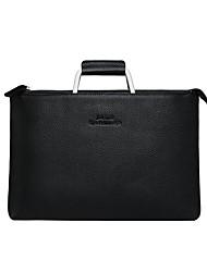 cheap -13.3 Inch Laptop / 14 Inch Laptop Sleeve / Shoulder Messenger Bag / Briefcase Handbags Leather for Men for Women for Business Office Shock Proof
