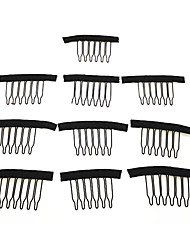 cheap -Hair Clip / Tools & Accessories Metal Clip & Cord / Clips / Wig Brushes & Combs Clips / comb Best Quality / Wearproof 10 pcs Daily Fashion Beige Blonde#18 Black