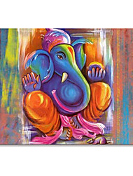 cheap -Oil Painting Handmade Hand Painted Wall Art Mintura Modern Abstract Elephant Animal Home Decoration Decor Rolled Canvas No Frame Unstretched