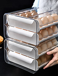 cheap -Household Egg Storage Box Drawer Type Refrigerator Fresh Keeping Box Egg Tray 32 Grid Egg Compartment Storage