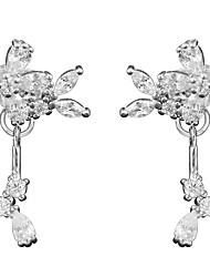 cheap -literary flowers cute leaves tassels water drops leaves daisy s925 sterling silver custom earrings earrings female models