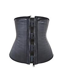 cheap -Shapewear 25 Steel Bone Zipper Rubber Corset Sports Fitness Sweating Plastic Belt Abdomen Waist Belt