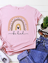 cheap -mousya be kind t-shirts women rainbow graphic colorful tees inspirational shirts casual short sleeve round neck tops