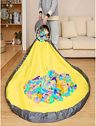 cheap -Toy Storage Bag and Play Mat Outdoor Quick Toy Storage Basket Collapsible Canvas Bucket Large Drawstring Portable Container for Kids Room Classroom Toy Organizer 28*32cm