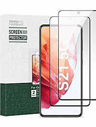 """cheap -s21+ screen protector tempered glass 2 pack for samsung galaxy s21 plus 6.7"""" 5g 2021 [fingerprint unlock compatible][9h hardness][full cover]"""