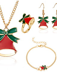 cheap -Women's Jewelry Set Earrings Jewelry Gold For Christmas Gift