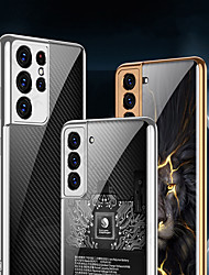 cheap -Phone Case For Samsung Galaxy Back Cover S21 Plus S21 Ultra Pattern Geometric Pattern Tempered Glass PC