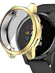 cheap -case covers compatible with garmin vivoactive 4s watch case screen protector, all-around protective case soft tpu bumper for garmin vivoactive 4s accessories (gold, vivoactive 4s 40mm)