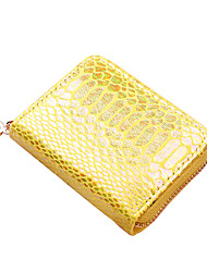 cheap -Women's Bags PU Leather Coin Purse Zipper Mesh Sequin Daily Outdoor Sequins 2021 Yellow White