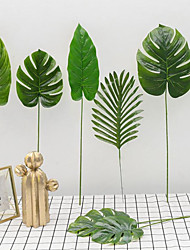 cheap -5pcs of Simulated Hand Feel Over Gum Turtle Leaf Branch Plant Scandinavian Style Home Decoration Leaf