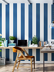 cheap -Wallpaper Wall Cover Sticker Film Peel and Stick Removable Self Adhesive Wide Stripe Non Woven Home Decoration 300*53cm