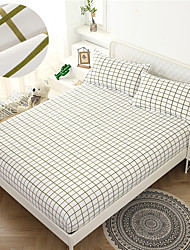 cheap -Sydney 1PC Soft Printed Fitted Sheet With Elastic Band Bed Sheet Cover (No Pillowcases)Full Queen King Size Dropshipping