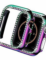 cheap -dtt13lue bling case for compatible with apple watch series 5 44mm 40mm iwatch 3 case 42mm 38mm diamond screen protector cover bumper watch accessories
