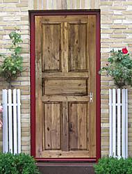 "cheap -2pcs Self-adhesive Creative Imitation Wood Grain Door Stickers For Living Room Diy Decorative Home Waterproof Wall Stickers 30.3""x78.7""(77x200cm), 2 PCS Set"