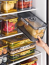 cheap -Refrigerator Storage Box Transparent Food Grade PET Plastic Thickened Timekeeping Frozen Storage Box