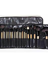 cheap -24 Pieces Of Make-up Brush Wood Color Make-up Set Black Make-up School Make-up Tools