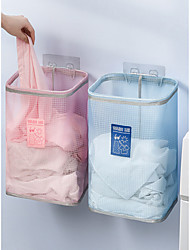 cheap -Punch-free Wall-mounted Laundry Basket Simple Bathroom Storage Basket Sundries Storage Basket Dirty Clothes Basket 26*18*35cm