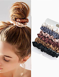 cheap -6Pcs / Set Woman Fashion Scrunchies Velvet Hair Ties Girls Ponytail Holder Elastic Band Elastic Hair Band Hair Accessories