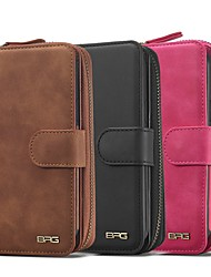 cheap -Handbag Zipper Wallet Phone Case For iPhone 13 12 Pro Max 11 SE 2020 X XR XS Max 8 7 6 Plus SE2020 PU Leather Magnetic Detachable 2 in 1 Full Body Protective Cover with Card Slots Kickstand