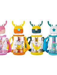 cheap -Water Cup Water Bottle for Kids Children Feeding Kids Toddler Newborn Baby Drink Cups Cartoon Water Bottles with Straw for Kids Drinking with Cup Strap