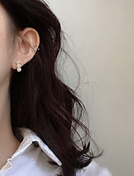 cheap -south korea dongdaemun purchasing the same earrings female small and exquisite geometric square pearl earrings temperament all-match earrings