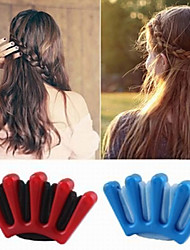 cheap -Diy Styling Tools Wonder Sponge Hair Braider Twist Styling Braid Tool Holder Clip For Women Girl Accessories