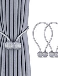 cheap -2pcs New Magnetic Curtain Small Ball Tie Rope Accessory Rods Accessories Back Retainments Buckle Clips Hook Holder Home Decor