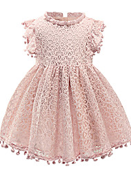 cheap -Kids Little Girls' Dress Solid Color FD426 pink FD426 yellow FD426 light blue Dresses