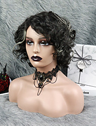 cheap -Curly  Wig Lace Front Human Hair Wigs 1B/613 Mix Color Pre Plucked Brizilian Hair For Women